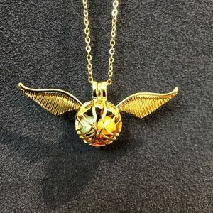 Jewelry - COPY - SALE! Harry Potter gold snitch pearl cage …